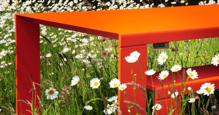 BANDI Table terrasse avec couleur sur demande (orange)