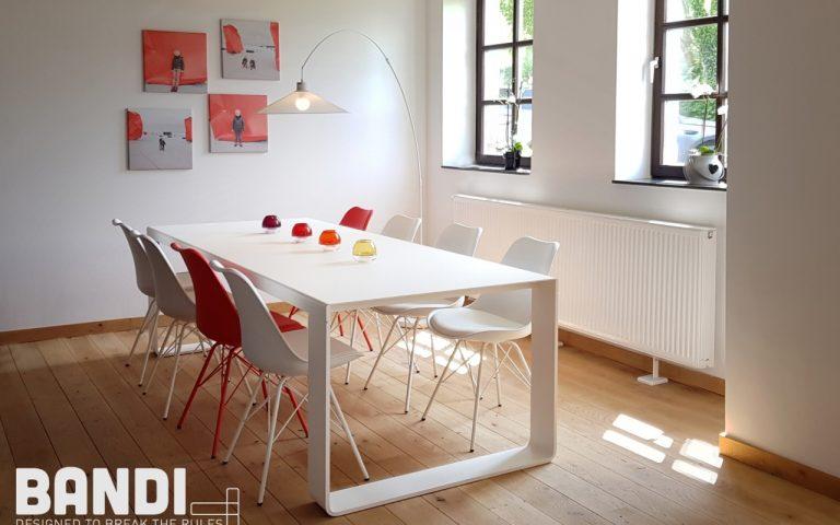 BANDI table blanche de réunion